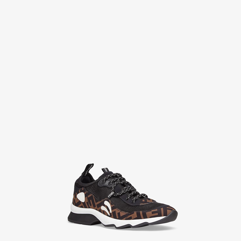 FENDI SNEAKERS - Brown technical mesh sneakers - view 2 detail