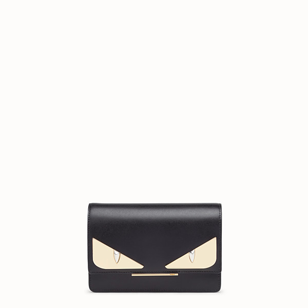 FENDI WALLET ON CHAIN - Black leather minibag - view 1 small thumbnail