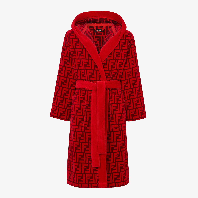FENDI BATHROBE - Red cotton bathrobe - view 1 detail