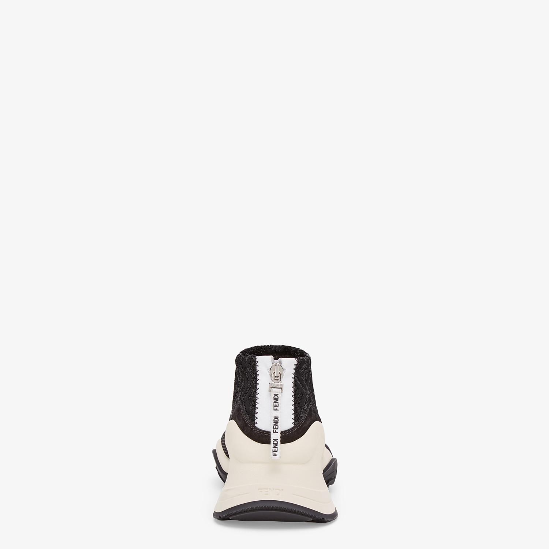 FENDI SNEAKERS - High-tech black jacquard sneakers - view 3 detail