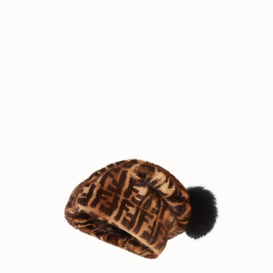 FENDI HAT - Multicolour mink hat - view 1 detail