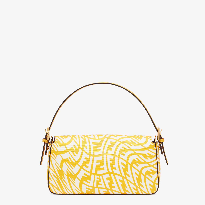 FENDI BAGUETTE 1997 - Yellow glazed canvas bag - view 4 detail