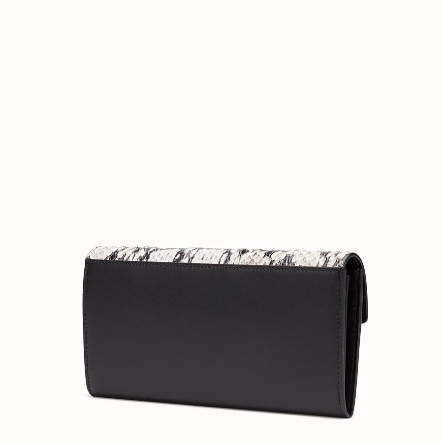 FENDI 장지갑 - 블랙 컬러의 가죽 지갑, 이그조틱 디테일 - view 2 detail