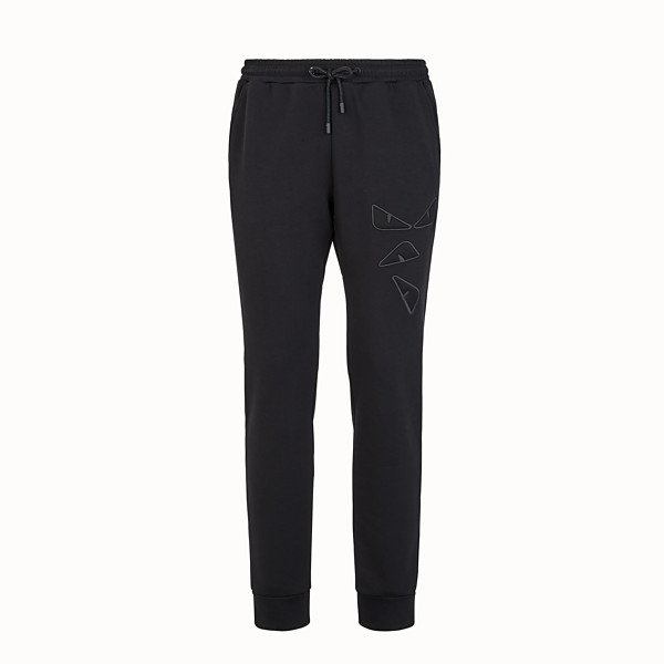 FENDI  - Black jersey trousers - view 1 small thumbnail