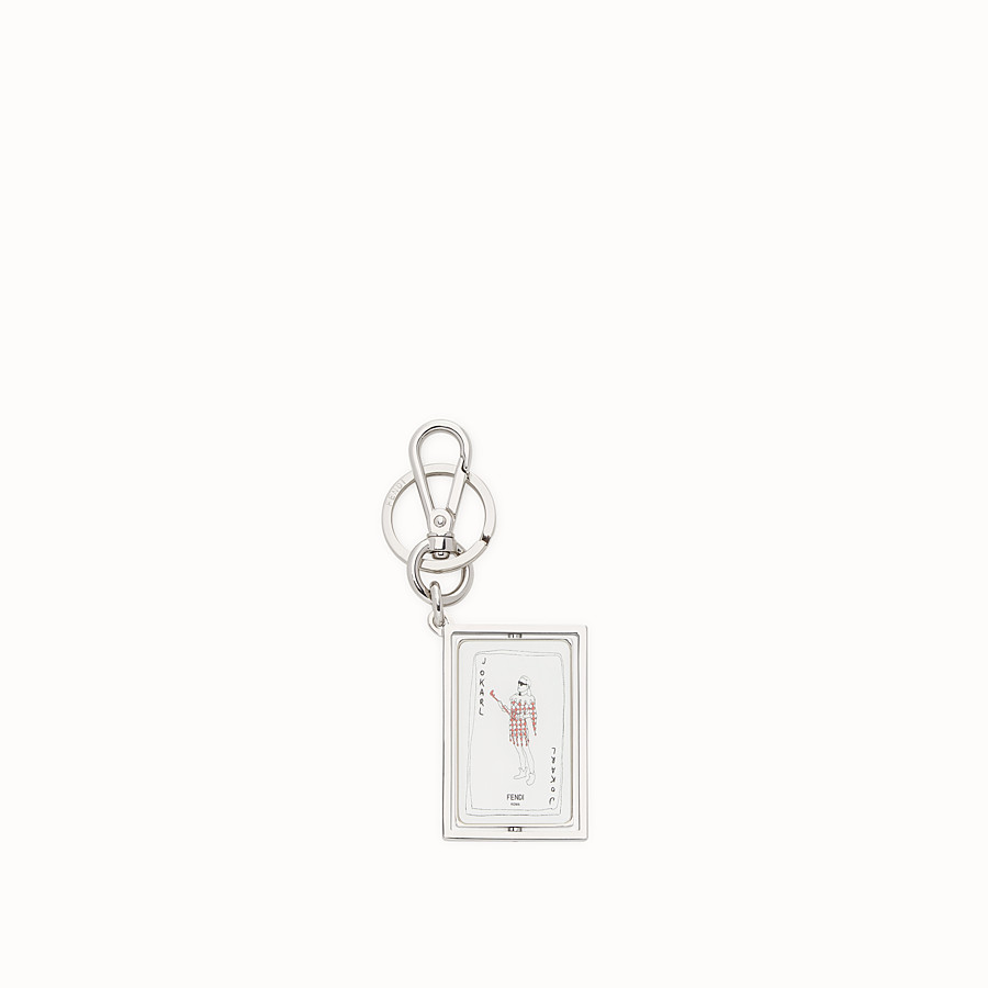 FENDI KEY RING - Silver coloured metal key ring - view 1 detail