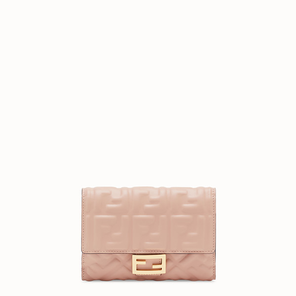 FENDI WALLET - Pink nappa leather wallet - view 1 small thumbnail