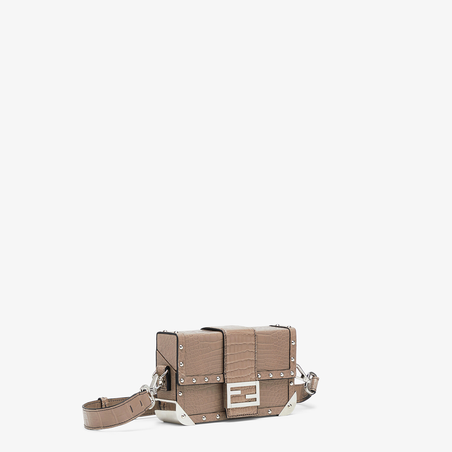 FENDI BAGUETTE TRUNK MINI - Beige alligator leather bag - view 2 detail