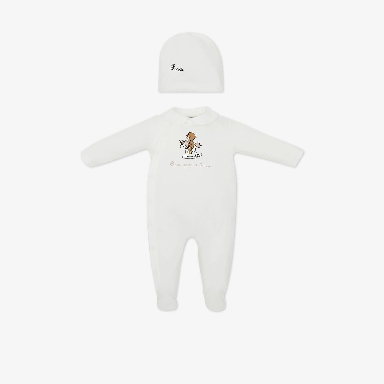 FENDI BABY SET - White jersey baby set - view 1 detail