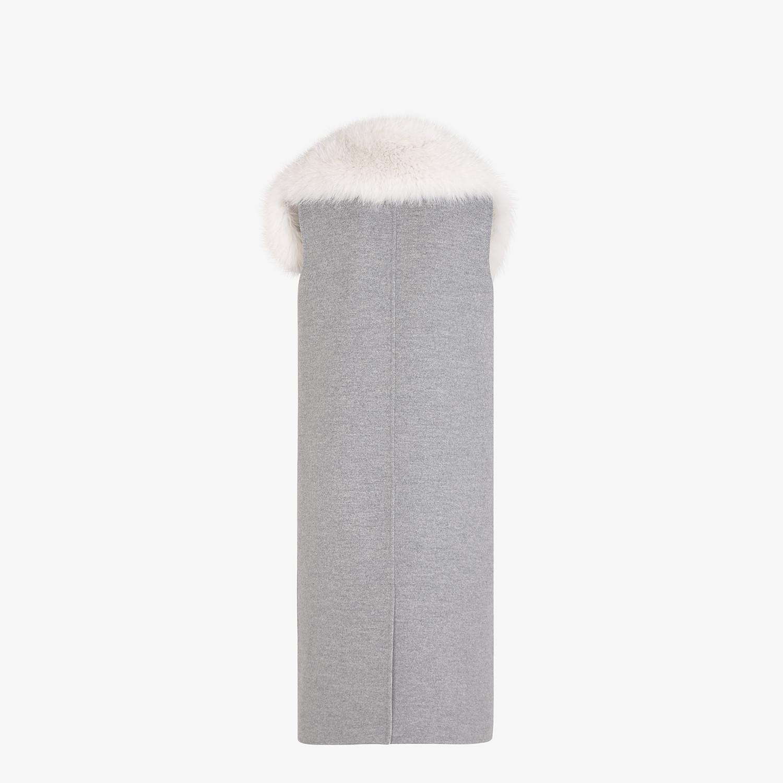 FENDI VEST - Gray cashmere vest - view 2 detail