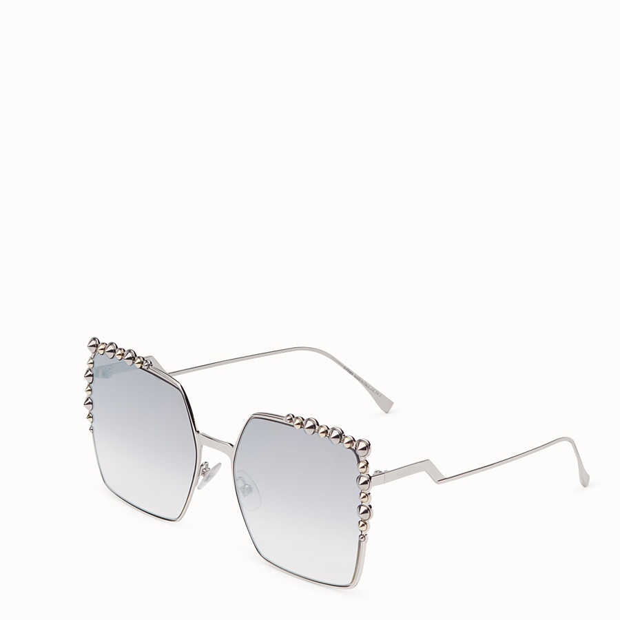 FENDI CAN EYE - Silver-colour sunglasses - view 2 detail