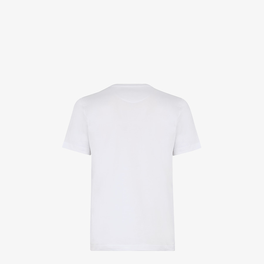 FENDI T-SHIRT - White cotton T-shirt - view 2 detail