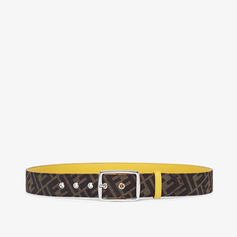 FENDI BELT - Brown fabric belt - view 1 detail