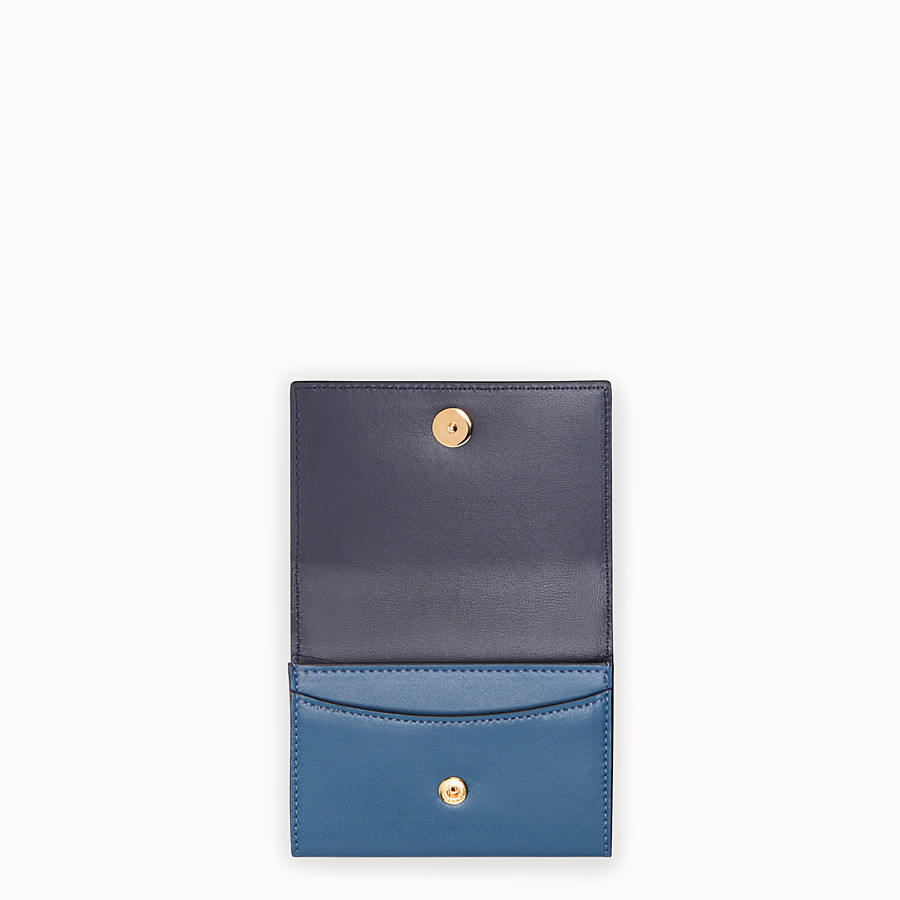 FENDI CARD HOLDER - Blue leather business card holder - view 4 detail