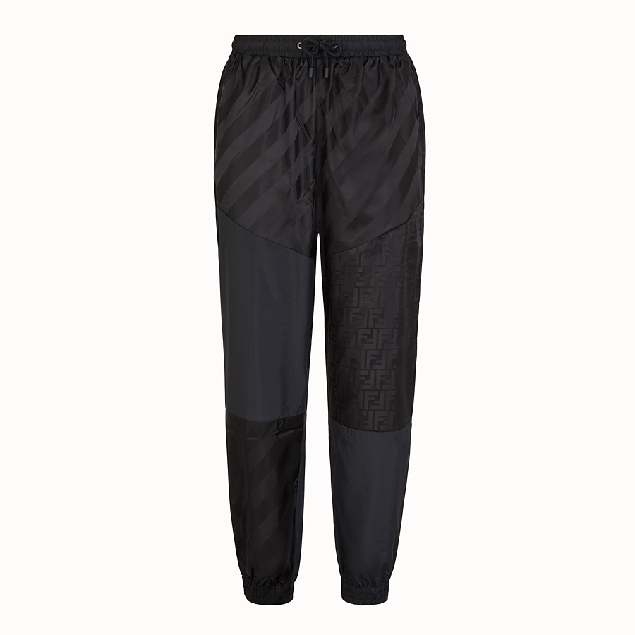 FENDI TROUSERS - Black tech fabric trousers - view 1 detail