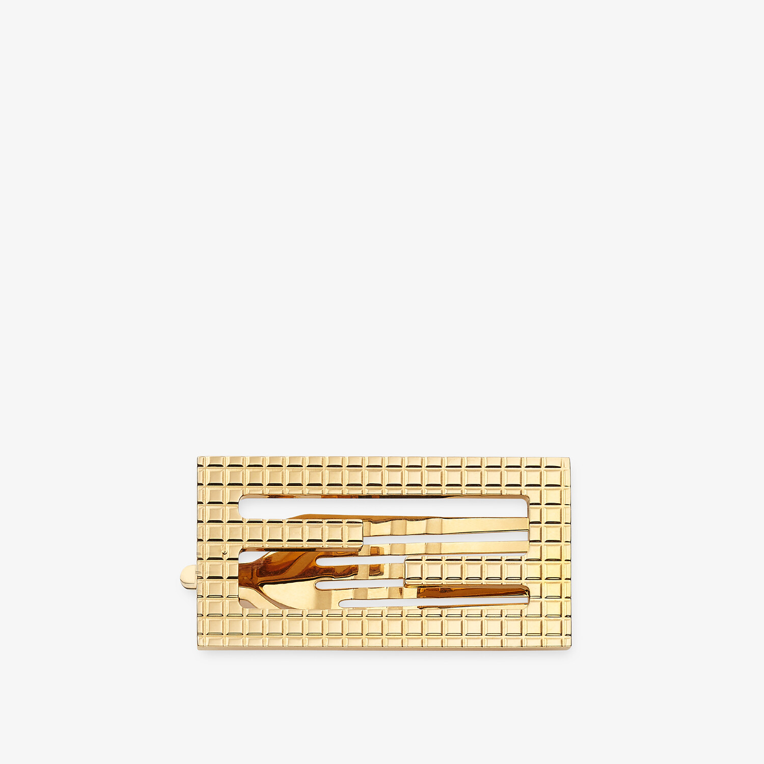 FENDI BAGUETTE HAIR CLIP - Gold-colored hair clip - view 1 detail