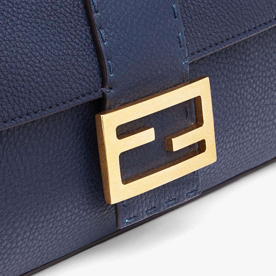 FENDI BAGUETTE - Blue leather bag - view 6 detail