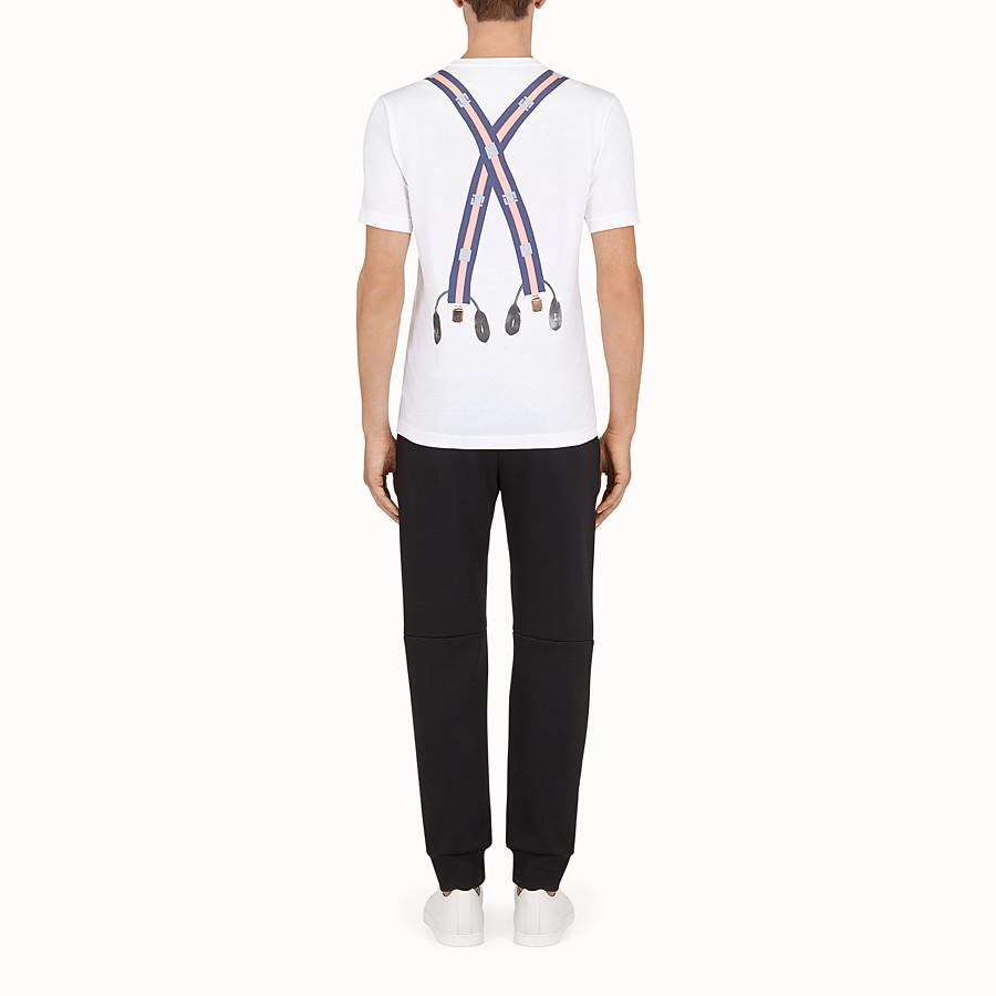 FENDI 티셔츠 - 화이트 컬러의 코튼 티셔츠 - view 3 detail