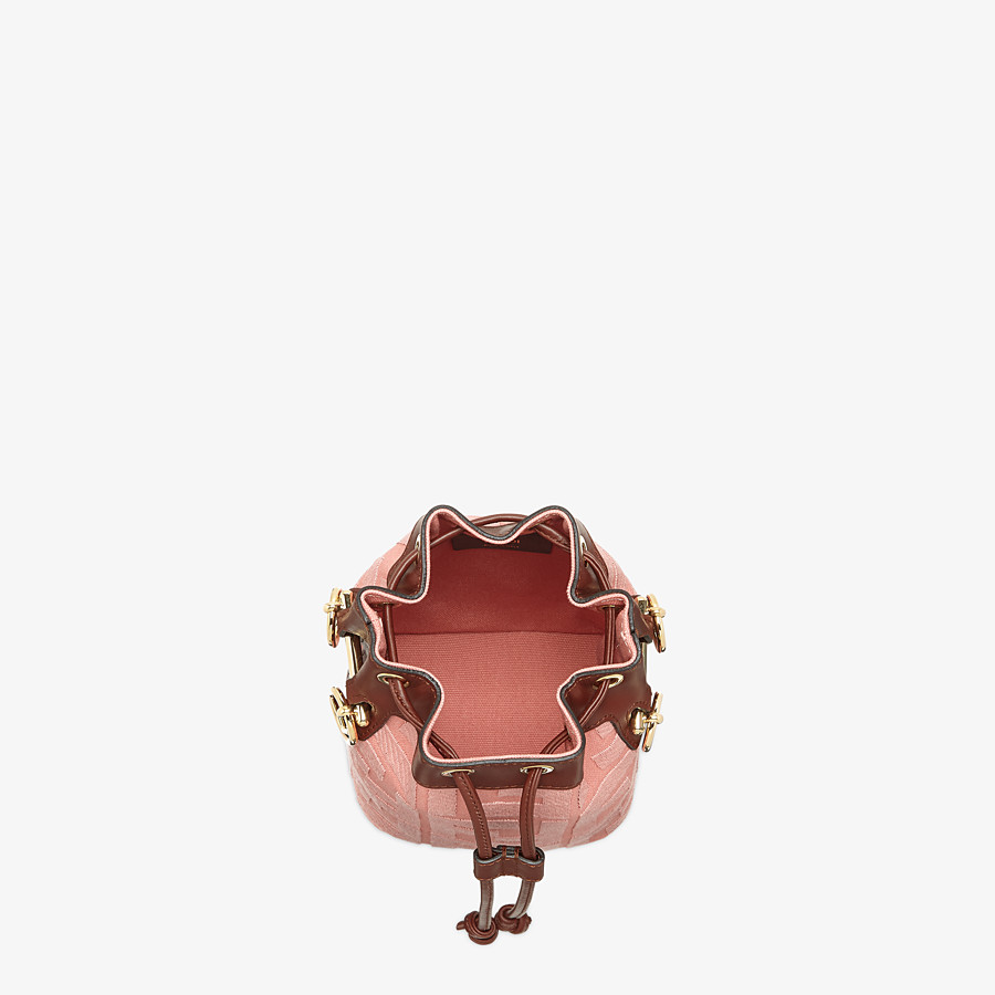 FENDI MON TRESOR - Pink canvas mini-bag - view 4 detail