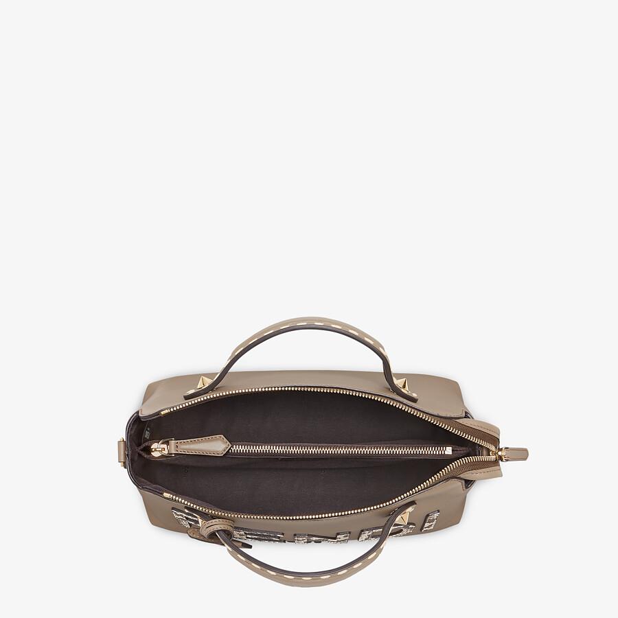 FENDI BY THE WAY MEDIUM - Grey leather and elaphe Boston bag - view 5 detail