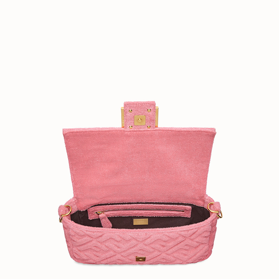 FENDI BAGUETTE - Pink terry bag - view 5 detail
