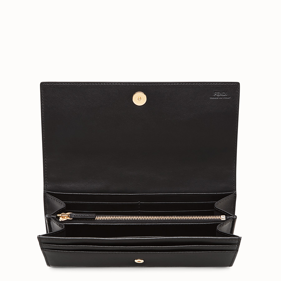 FENDI CONTINENTAL - Black leather continental wallet - view 4 detail