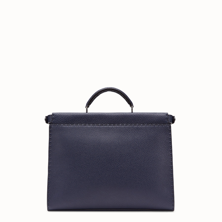 FENDI PEEKABOO FIT - Blue leather bag - view 3 detail