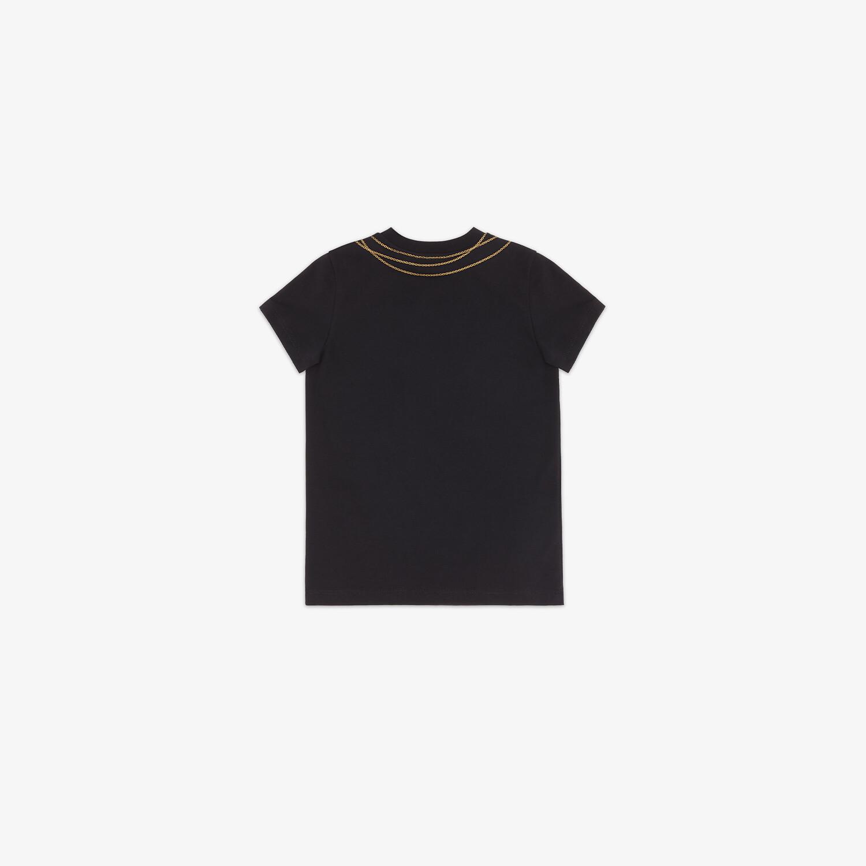 FENDI JUNIOR T-SHIRT - Black jersey junior T-shirt - view 2 detail
