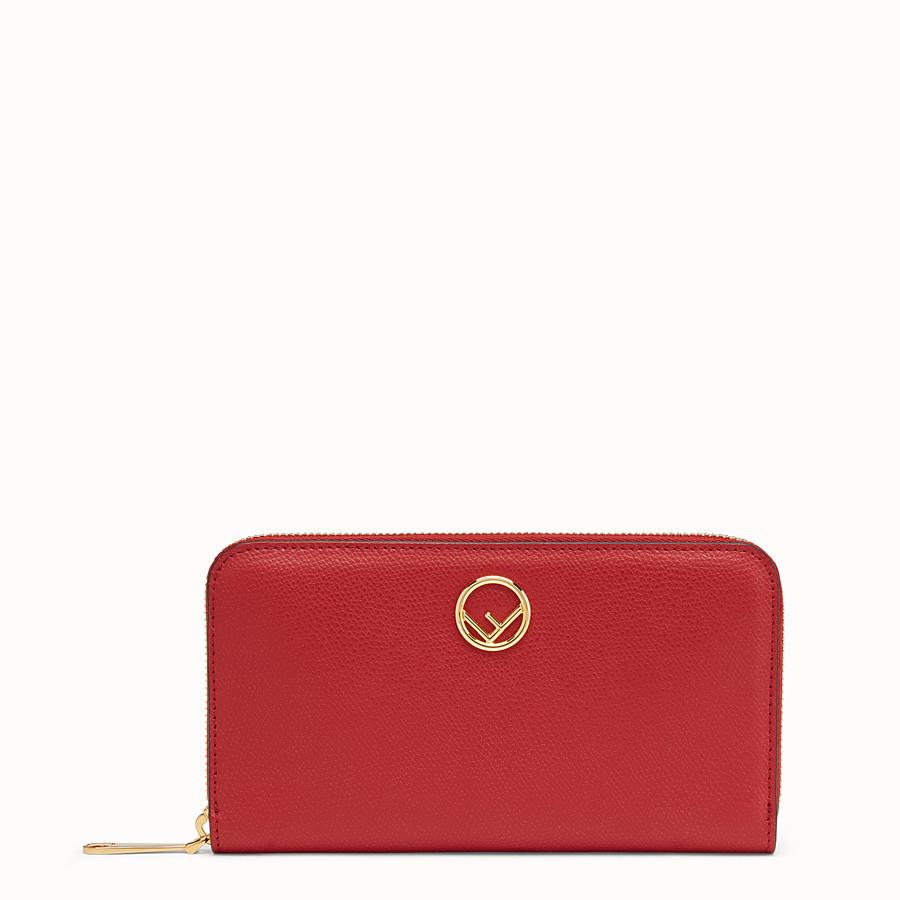 FENDI ZIP-AROUND - Red leather wallet - view 1 detail