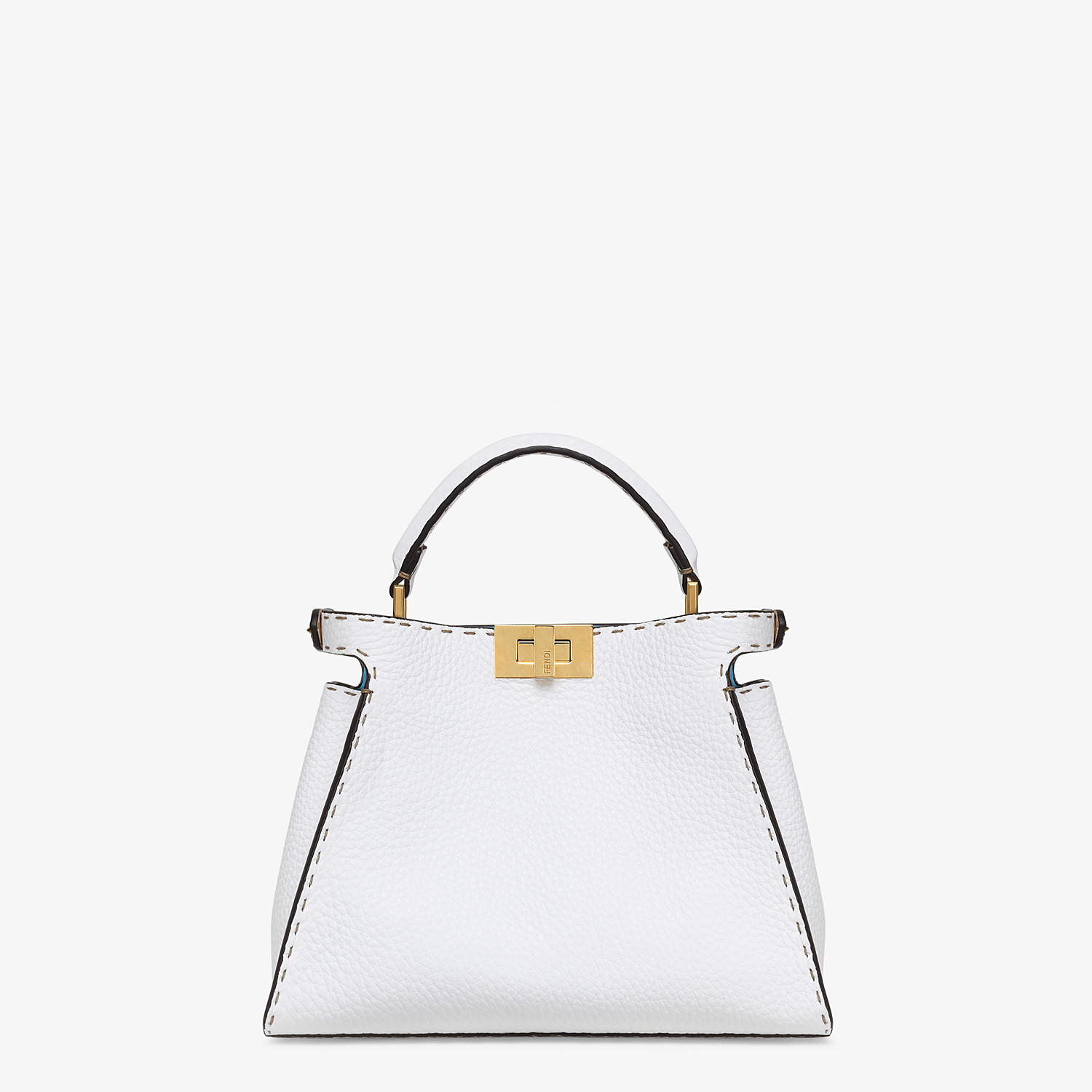 FENDI PEEKABOO ICONIC ESSENTIALLY - White Cuoio Romano leather bag - view 4 detail