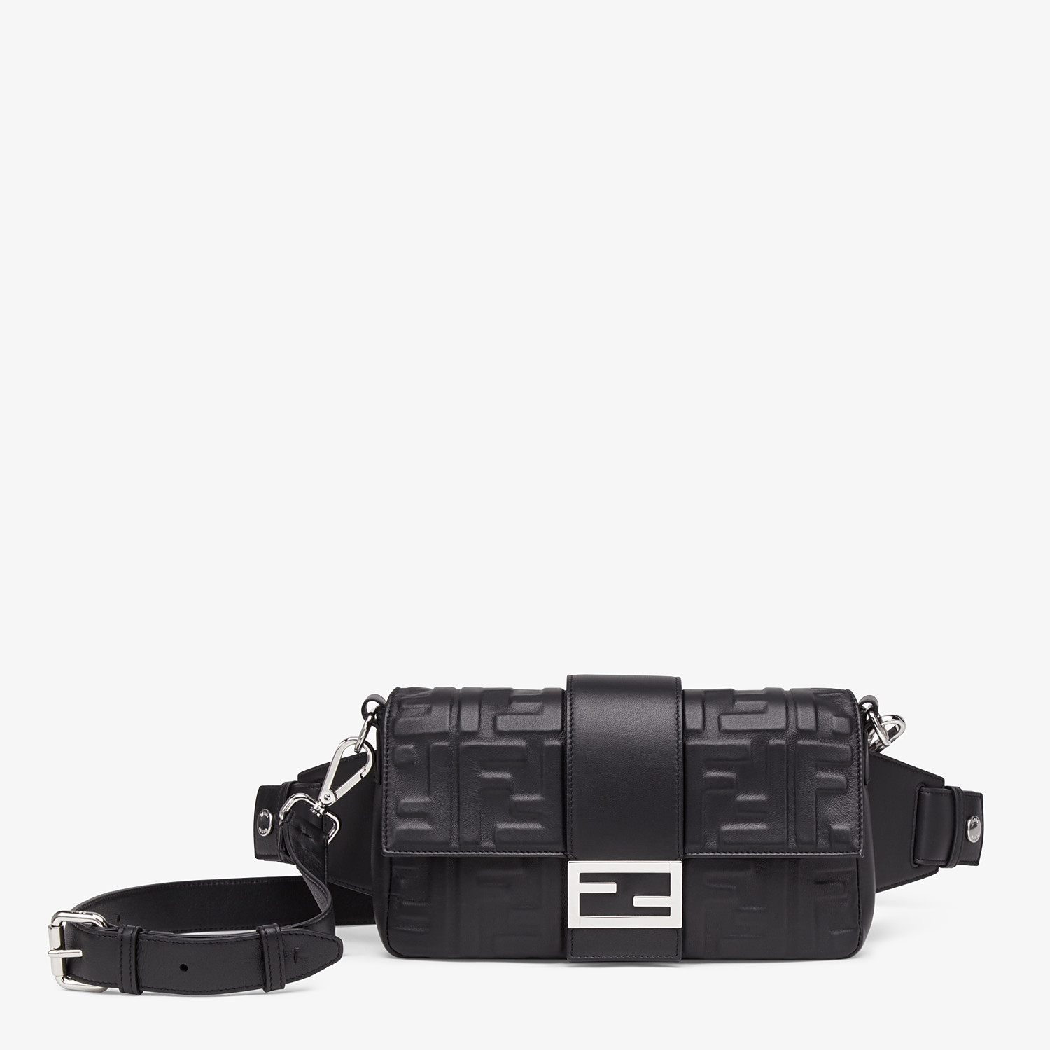 FENDI BAGUETTE - Black nappa leather bag - view 1 detail