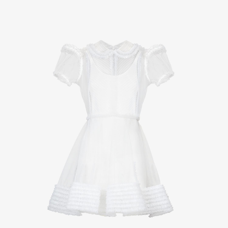 FENDI DRESS - White tulle dress - view 1 detail