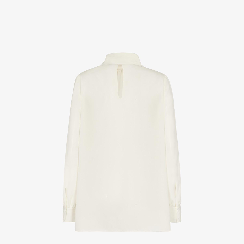 FENDI SHIRT - White crêpe de chine blouse - view 2 detail
