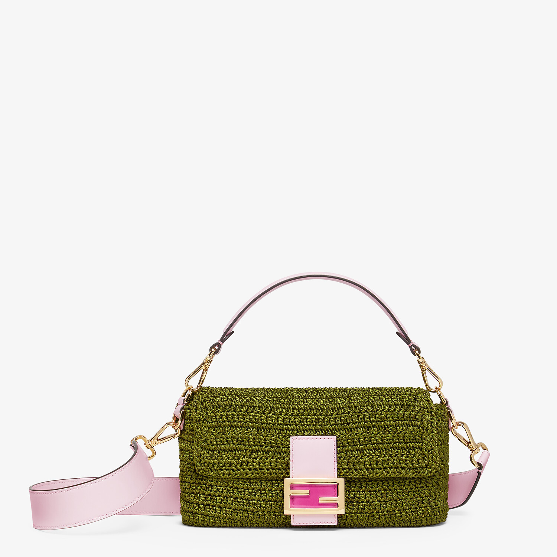 FENDI BAGUETTE - Green cotton crochet bag - view 1 detail