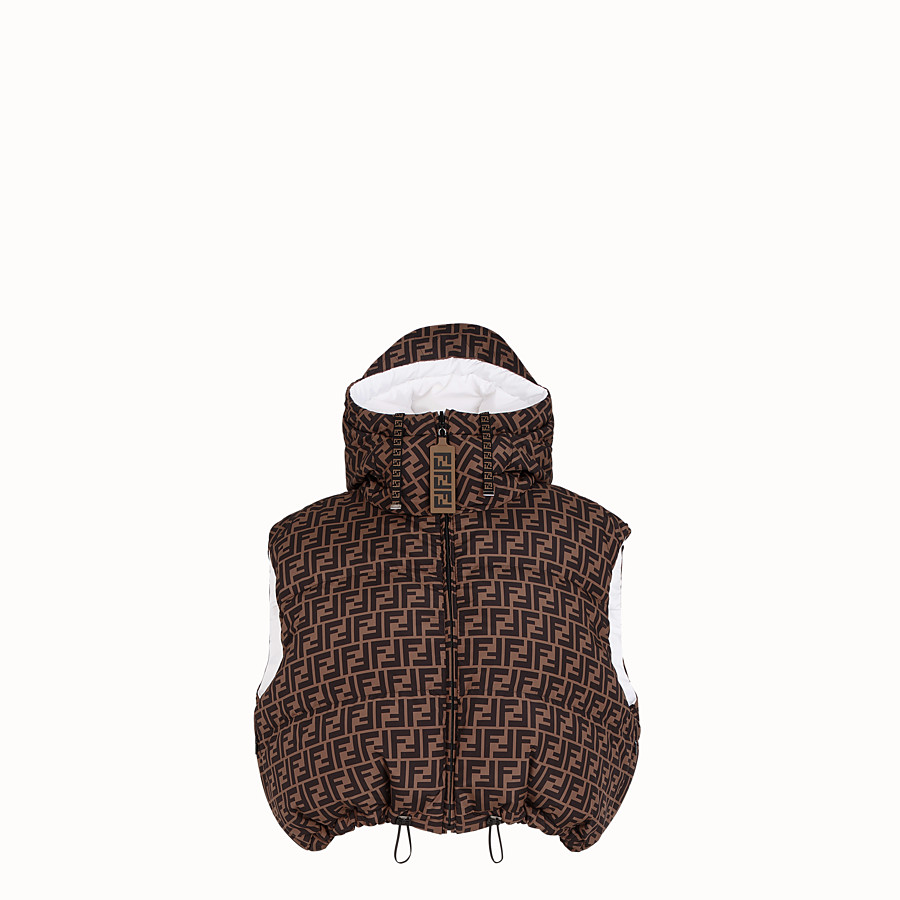 FENDI GILET - White tech fabric gilet - view 4 detail