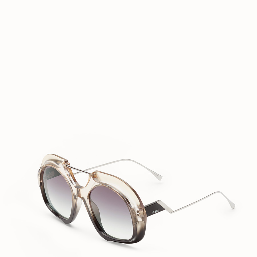 FENDI TROPICAL SHINE - Black and crystal sunglasses  - view 2 detail