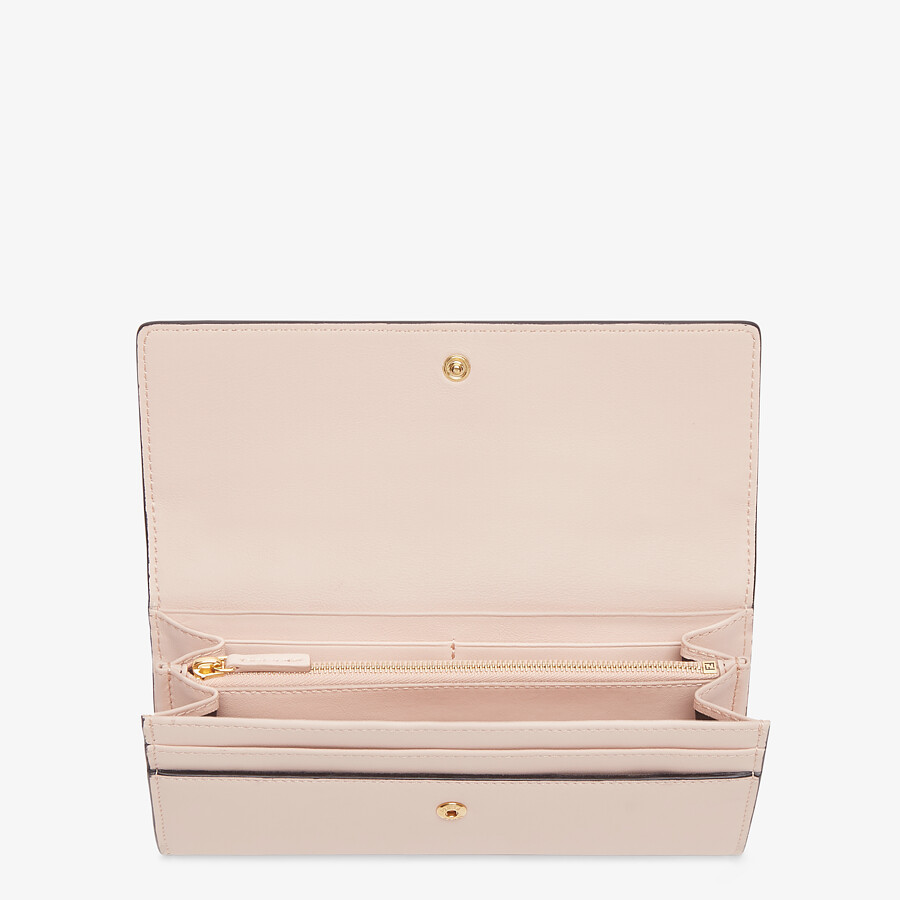 FENDI CONTINENTAL - Pink leather wallet - view 3 detail