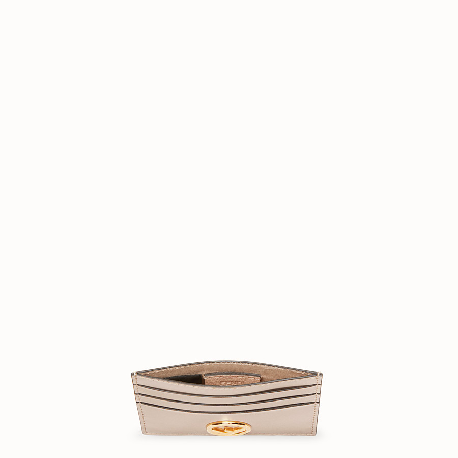 FENDI CARD HOLDER - Pink flat leather card holder - view 4 detail