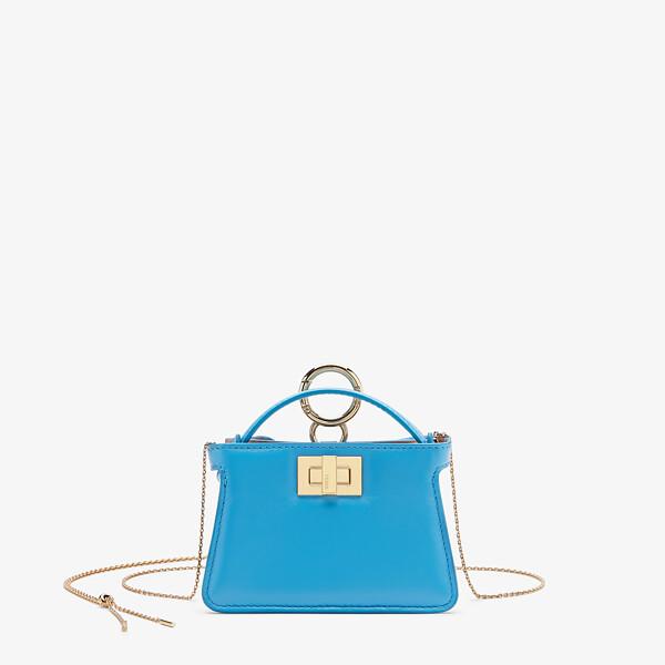 Light blue nappa leather charm