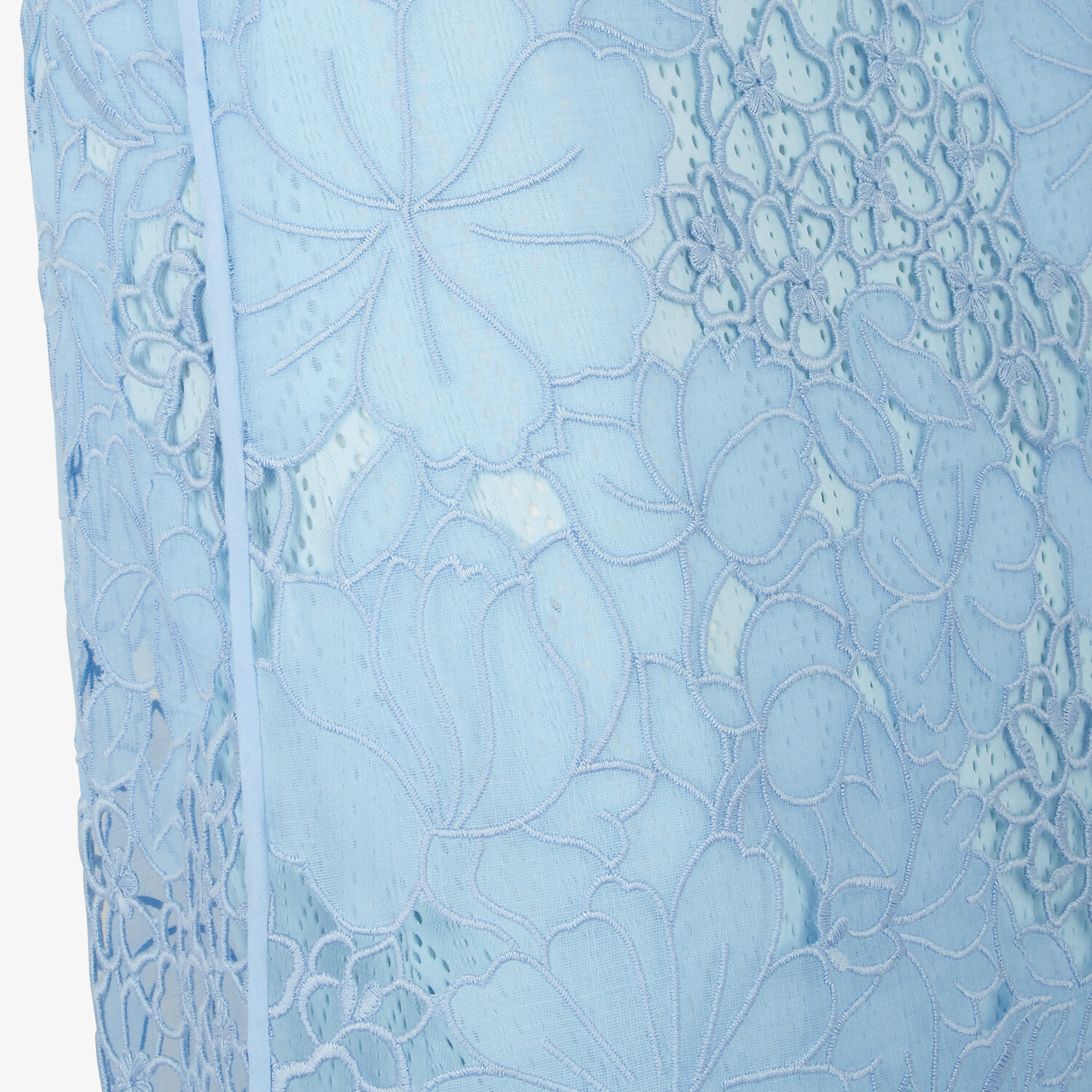 FENDI SKIRT - Light blue lace skirt - view 3 detail