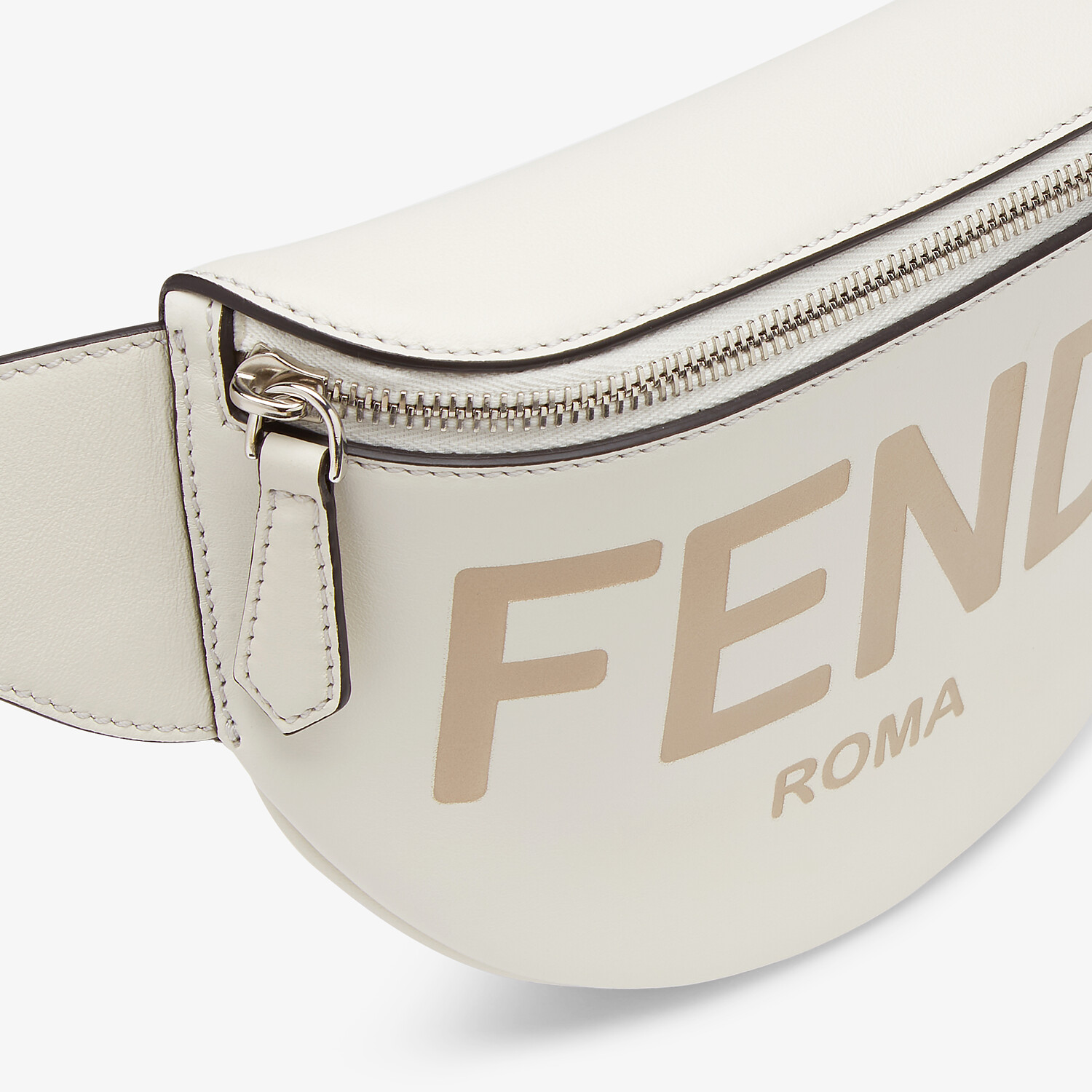 FENDI BELT BAG - White leather belt bag - view 4 detail