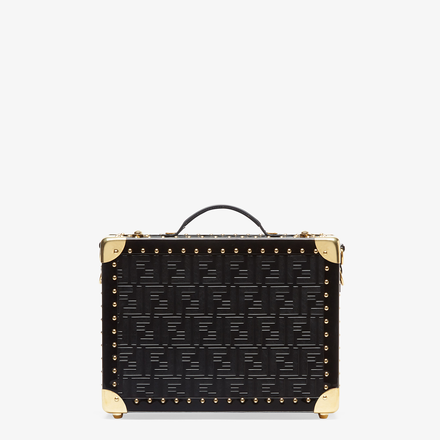 FENDI SMALL TRAVEL BAG - Black leather suitcase - view 3 detail