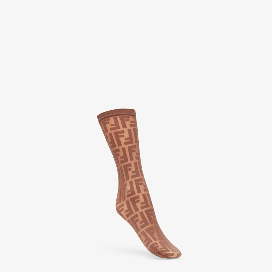 FENDI SOCKS - Multicolour nylon socks - view 1 detail