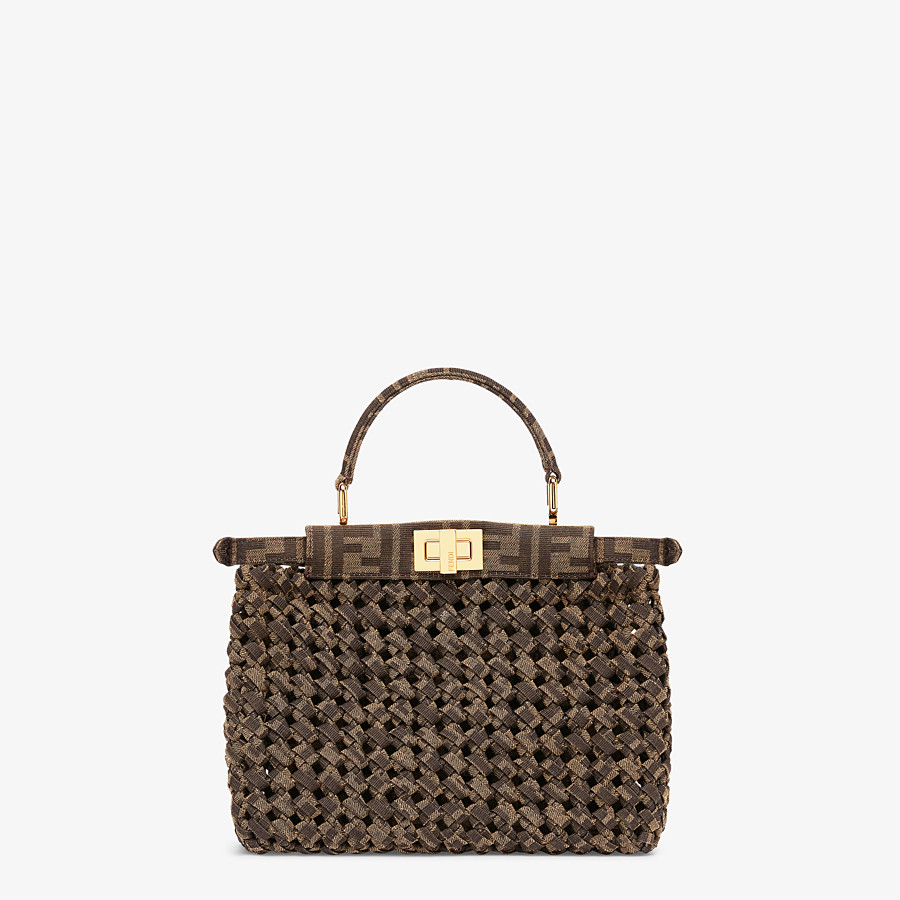 FENDI PEEKABOO ICONIC MINI - Jacquard fabric interlace bag - view 4 detail