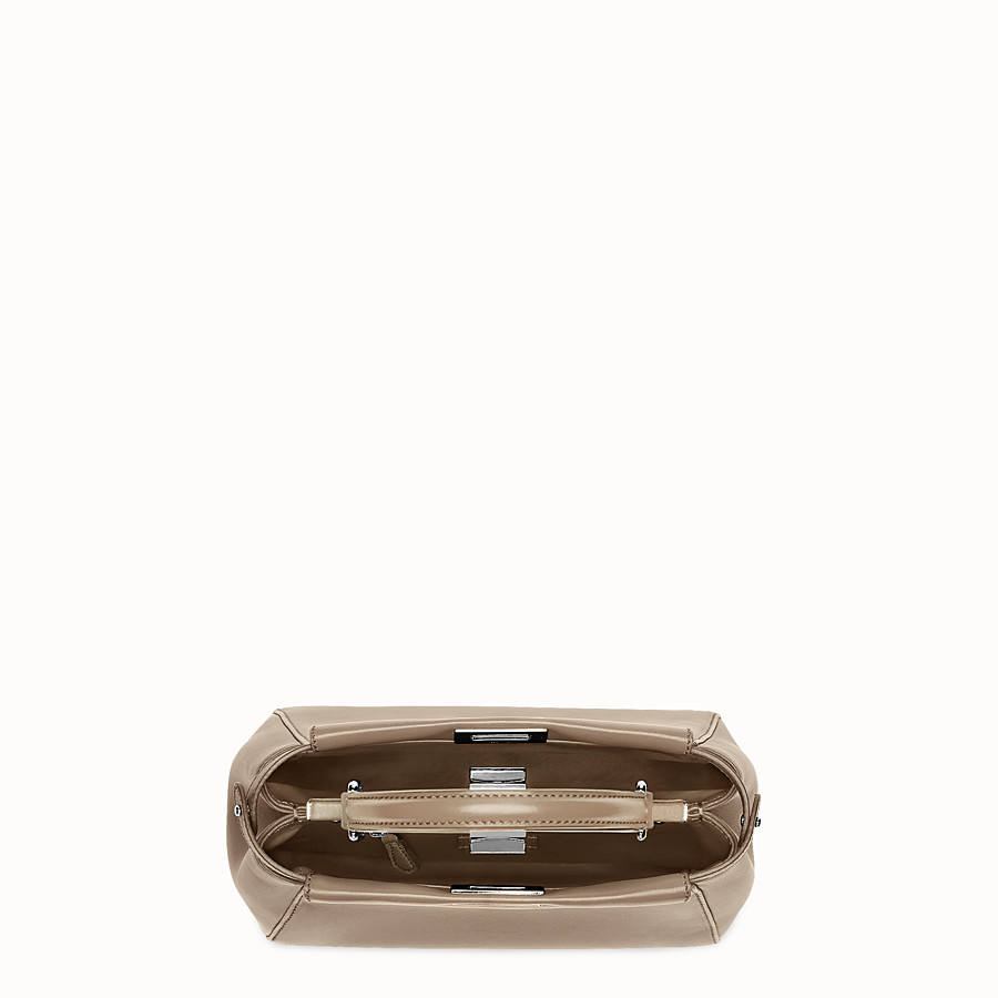 FENDI PEEKABOO ICONIC MINI - Handbag in dove gray nappa - view 4 detail