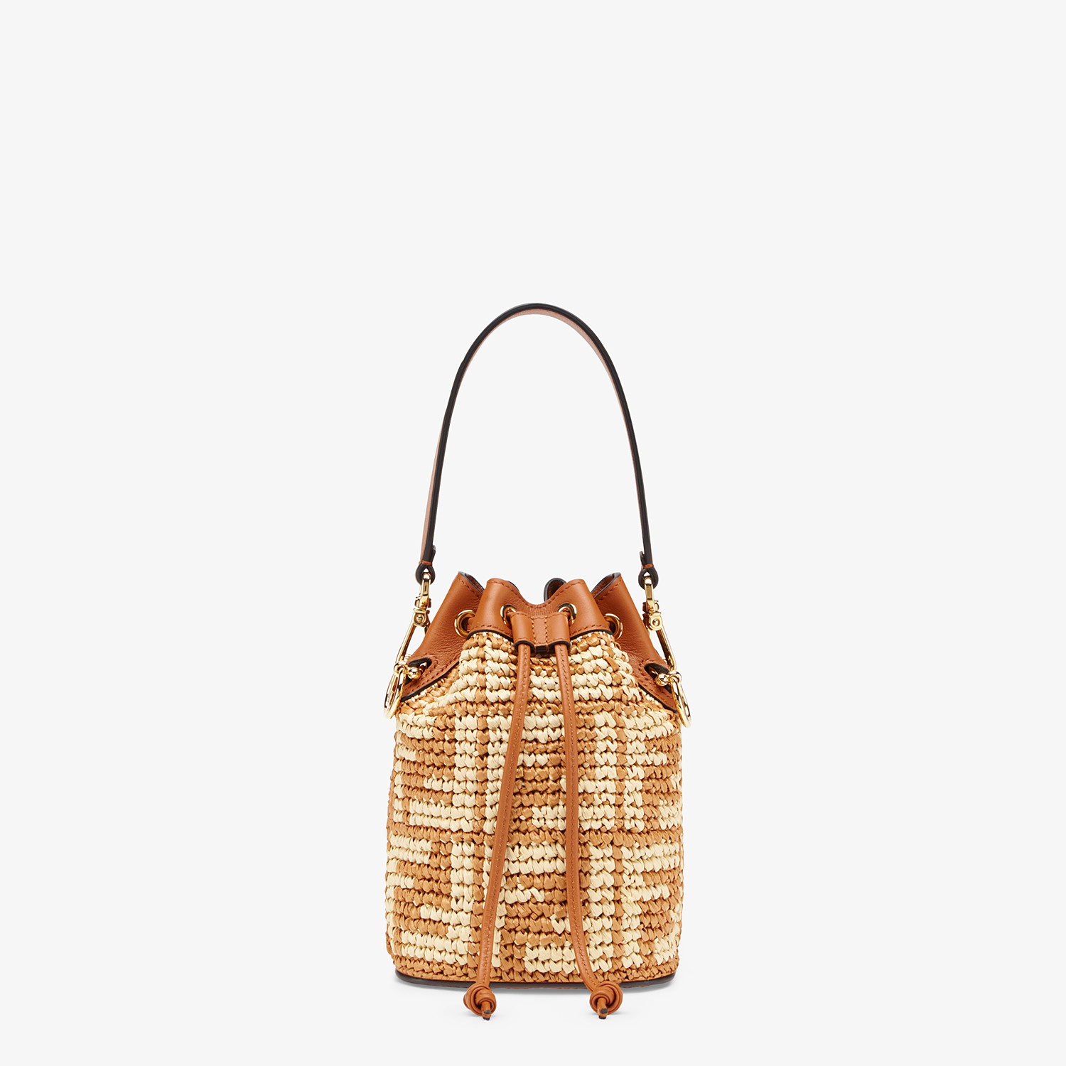 FENDI MON TRESOR - Brown raffia mini-bag - view 1 detail