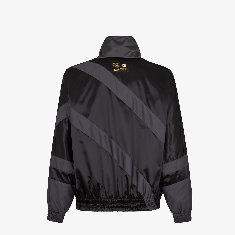 FENDI JACKET - Black tech satin jacket - view 2 detail