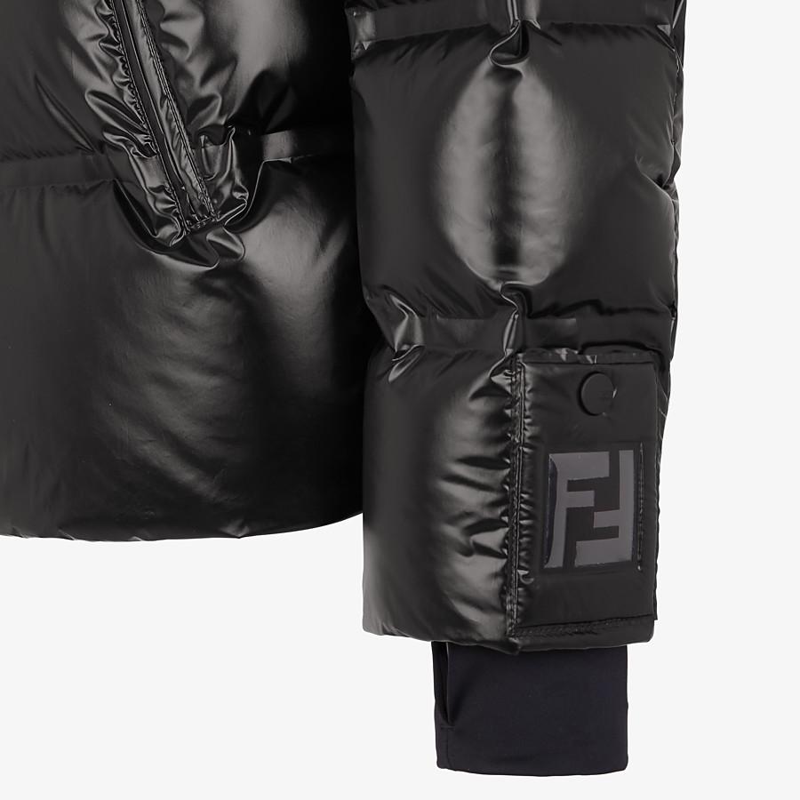 FENDI DOWN JACKET - Black nylon down jacket - view 3 detail