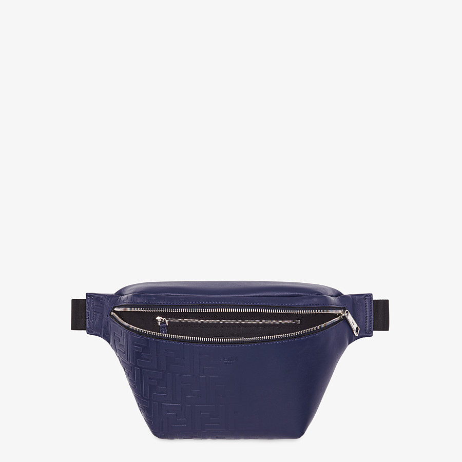 FENDI BELT BAG - Blue calf leather belt bag - view 4 detail