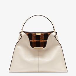 FENDI PEEKABOO X-LITE - White leather bag - view 3 thumbnail