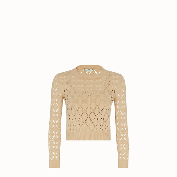 FENDI PULLOVER - Beige fabric jumper - view 1 small thumbnail